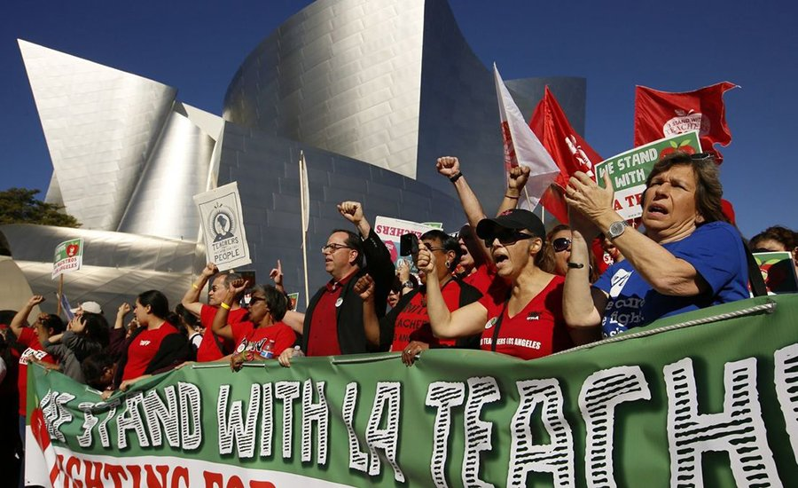 LA Teachers Strike as Democrats Charge Privatizing Investment Banker with Restructuring their Schools
