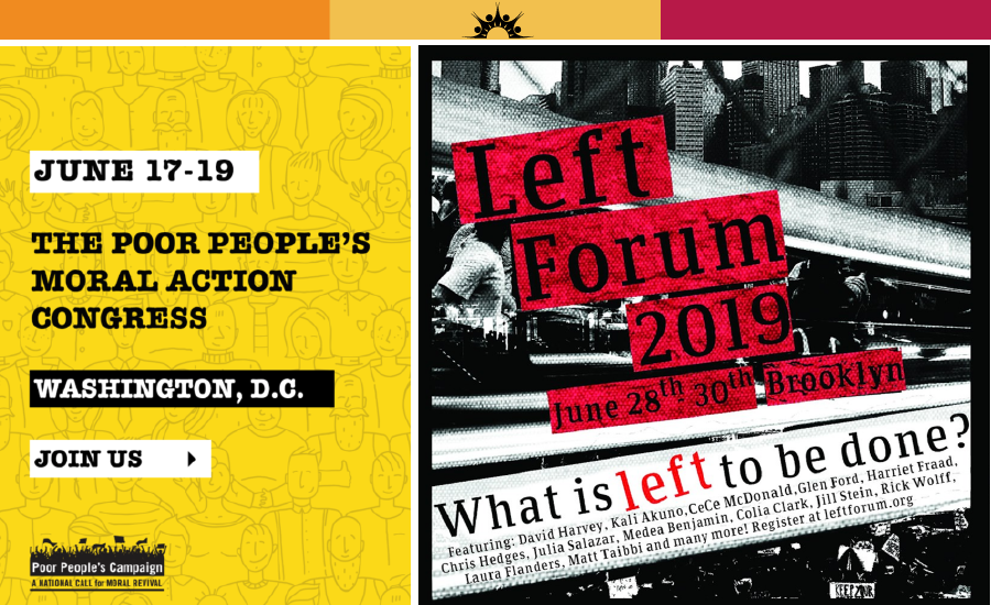 Join us at Left Forum and the Poor People's Campaign Congress