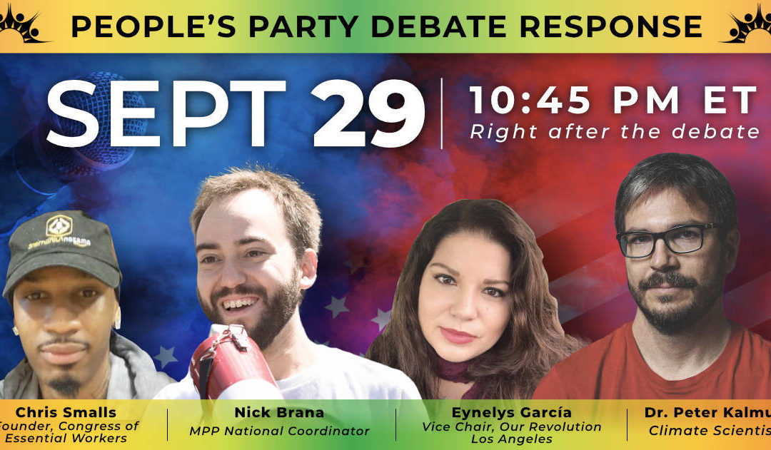 The People's Convention was a huge success. Now we're coming for the debates!